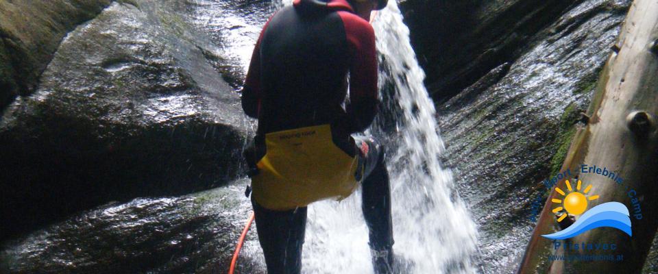 Canyoning in der Wunzenschlucht
