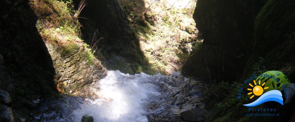 Canyoning - die Schluchten rufen