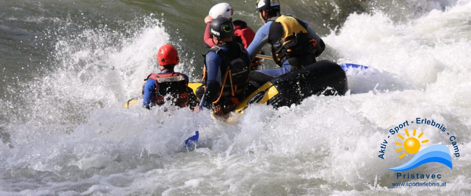 Rafting mit den Mini Booten