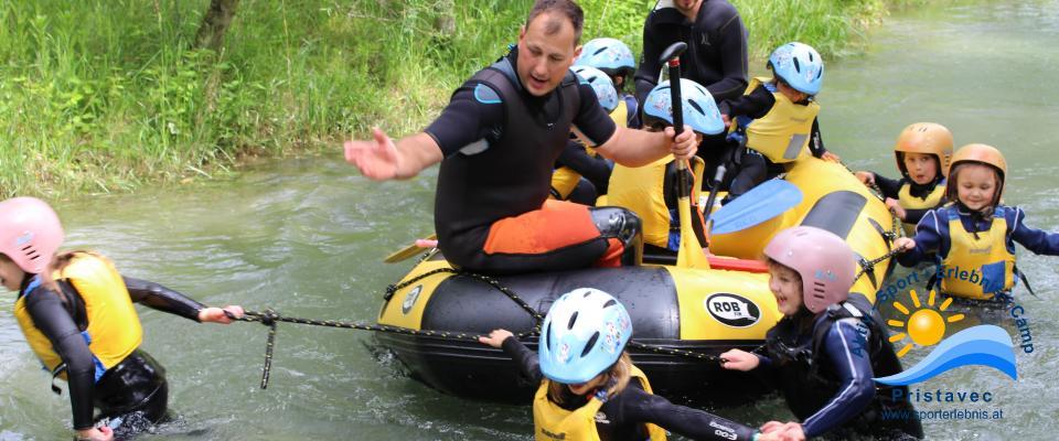 Rafting mit den Kleinsten in der Wasserwelt