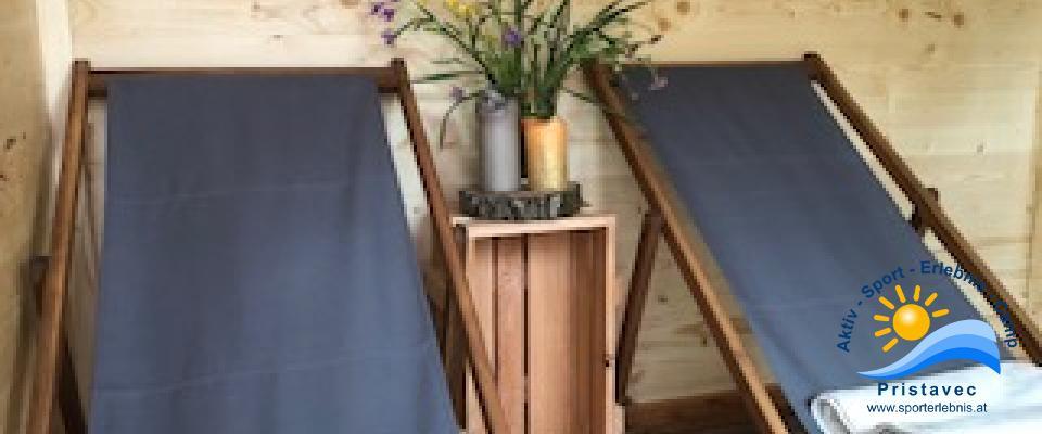 Wellness Sauna mit Feuerofen Tiny Home
