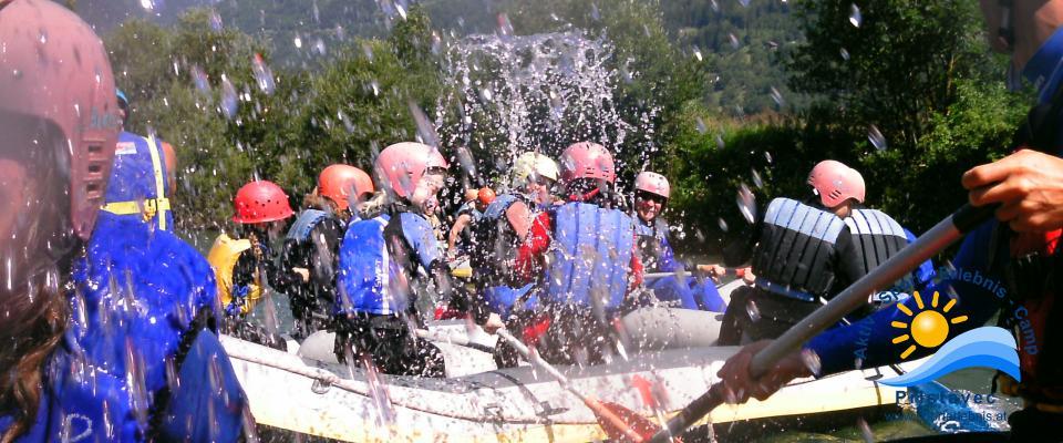 Rafting in Kärnten- Familienspaß